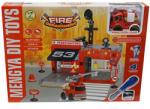 UNIKATOY Tűzoltóállomás járművel