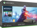 Microsoft Xbox One X 1TB Gold Rush Special Edition + Battlefield V Deluxe Edition Конзоли за игри