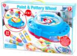 Playgo Paint & Pottery Wheel - korongozó- és festőkészlet (8506)
