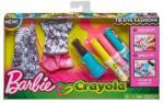 Mattel Barbie Crayola - Ruhafestő készlet - rózsaszín (FPW12/FPW13)