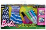 Mattel Barbie Crayola - Ruhafestő készlet - lila (FPW12/FPW14)