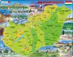 Larsen Maxi puzzle - Magyarország térkép 80 db-os K60