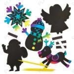 Baker Ross Képkarcolós karácsonyi hűtőmágnes készítő kreatív szett 10 db-os (KJK-BAKERAF774)