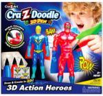 CRA-Z-ART Cra-Z-Doodle - 3D Határtalan fantázia 3D készlet - Szuperhősök (14596)
