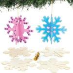 Baker Ross Fa karácsonyfadísz sablonok, 6 db-os, hópehely (KJK-BAKERAV721)
