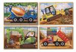 Melissa & Doug MD3792 (12) - Vehicule pentru constructii Puzzle