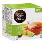 Nescafé Dolce Gusto Kávékapszula Citrus-, méz- és gyömbérízű fekete tea italpor cukorral