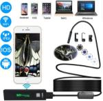 Endoszkóp kamera (5 méter) WiFi-s, iPhone, Android, PC, IP68 vízálló