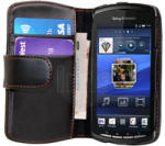 Sony Ericsson Xperia Play Wallet Калъф + Протектор