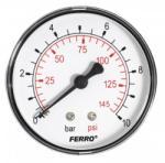 """Ferro Nyomásmérő hátsó csatlakozású 10 bar, számlap Ø63 mm, 1/4"""" M6310A"""