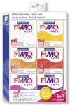 FIMO Soft Colour Pack égethető gyurma készlet meleg színek 6x57g (FM802323)