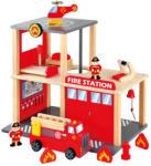 Bino Statie Pompieri cu masinuta si elicopter (84083)