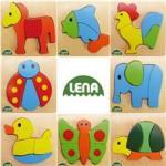 LENA Puzzle Lemn Animale (LE32060) Puzzle