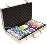 Алуминиево куфарче с 300 покер чипа с номинали