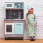 Eurekakids Bucătărie modernă din lemn cu ustensile incluse Bucatarie copii