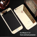 Tintom Folie Sticla iPhone 6 iPhone 6s Tuning GOLD Oglinda Fata Spate Tempered Glass Ecran Display LCD
