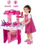 Chunghop Bucatarie de jucarie cu sunete si lumini pentru fetite - 826ROZ (826ROZ) Bucatarie copii