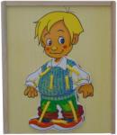 Wooden Toys Дървен пъзел дрехи за обличане