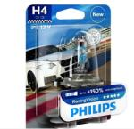 Philips Bec H4 Philips Racing Vision 150% 12342RVB1