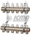 ICMA Set distribuitor/colector, cu robineti termostatici si robineti micrometrici - ICMA K005 3 cai