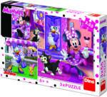 Dino O zi cu Minnie 3in1 - 55 piese (335226) Puzzle