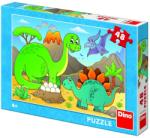 Dino Dinozauri prietenosi - 48 piese (371309) Puzzle
