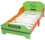 Stylebebe Pat cu cadru din lemn Green Crayon - allkids