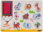 Woodyland Дървен пъзел с печати Woody - Африкански животни (91185) - ozone