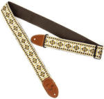 Gretsch G Brand Guitar Strap Diamond Brown End