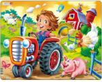 Larsen Copil la ferma pe tractor 15 piese (LRBM7) Puzzle