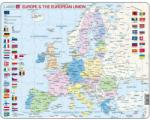 Larsen Harta Politica a Europei (EN) - 70 piese (LRK63-GB) Puzzle