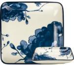 Gusta Szögletes tányér, Gusta Out Of The Blue 12, 5x12, 5 cm, pünkösdi rózsa