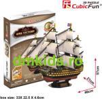 CubicFun Corabia HMS Victory 3D - 189 piese (T4019H) Puzzle