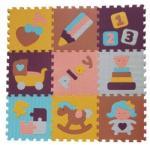 Babygreat - Covoras Puzzle Lumea jucariilor 92x92 cm (BBS_5002018)