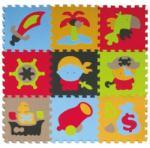 Babygreat - Covoras Puzzle Aventurile piratilor 92x92 cm (BBS_5002015)