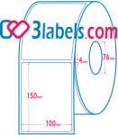 3labels матови бели етикети от хартия за инкджет (inkjet) печат 100х150 мм, 500 бр