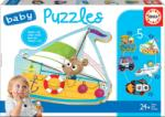 Educa Puzzle pentru cei mici Baby 5 Educa Mijloace de transport II. de la 12 luni (EDU18059)