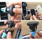 Gonga Suport auto pentru telefon, universal, negru, Gonga