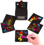 Tooky Toy Képkarc jegyzettömb - szivárvány glitteres, 130 lapos (JA91388)