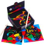 Tooky Toy Képkarc jegyzettömb - szivárvány, 130 lapos (JA91081)