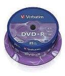 """Verbatim Blank Dvd+R Verbatim Sl 16x 4.7gb 50pk Spindle Wide Inkjet Printable No Id """"43512"""" (43512)"""