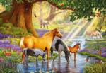 Castorland Horses by the stream - 1000 piese (103737) Puzzle