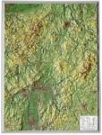 Georelief Harta in relief 3D Hesse, mica (in germana)