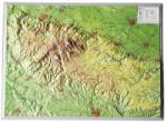 Georelief Harta in relief 3D regiunea Harz, mica (in germana)
