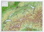Georelief Harta in relief 3D a Elvetiei, mica (in germana)