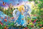 Educa The princess and the unicorn - 1000 piese (17654) Puzzle