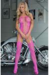 SoftLine Catsuit Floweret-Neon Pink