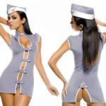 Stewardess szexi jelmez ruha, erotikus fehérnemű