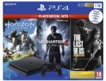 Sony PlayStation 4 Slim Jet Black 1TB (PS4 Slim 1TB) + PS Hits: Horizon Zero Dawn + Uncharted 4 + The Last of Us Remastered Játékkonzol
