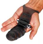 Master Series Вибрираща ръкавица за два пръста за стимулиране на g-точката